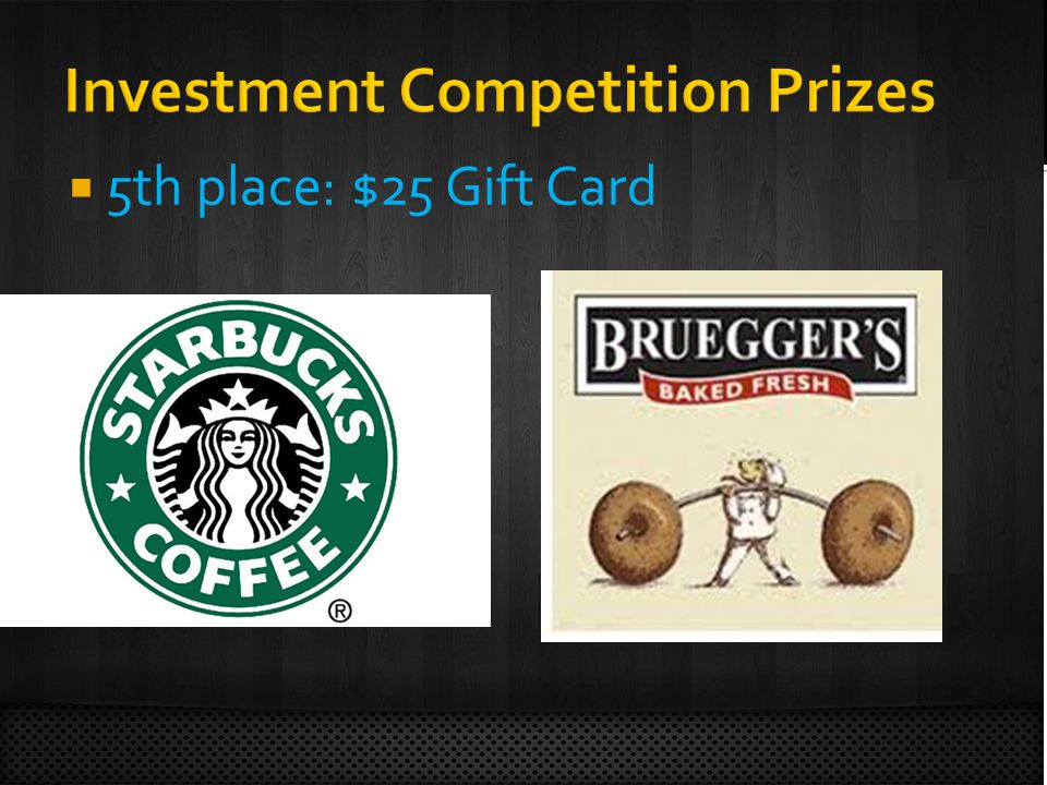  5th place: $25 Gift Card