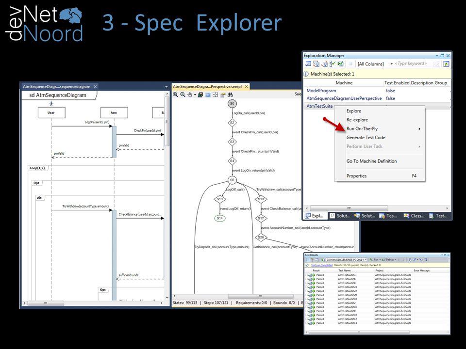 3 - Spec Explorer