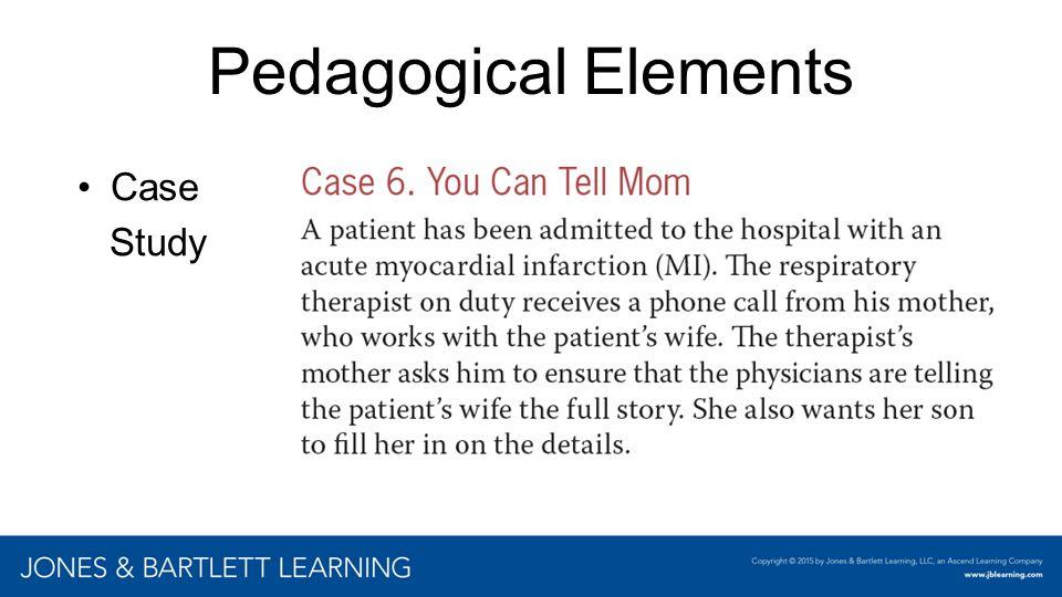 Pedagogical Elements Case Study