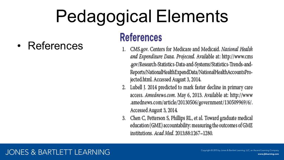 Pedagogical Elements References