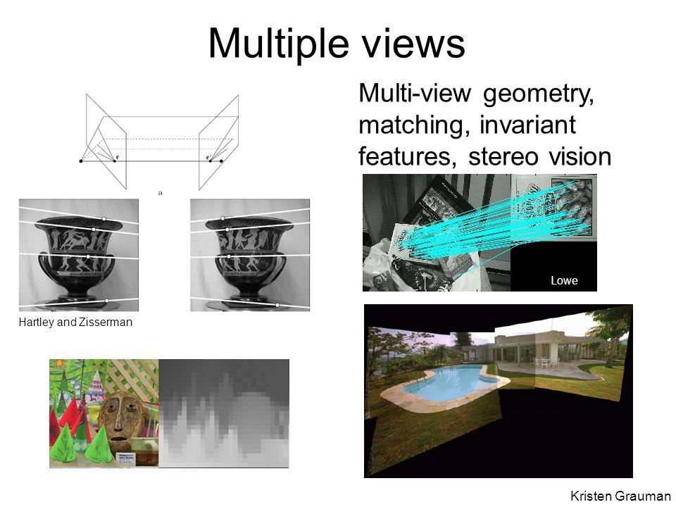Wide baseline stereo [Image from T. Tuytelaars ECCV 2006 tutorial]