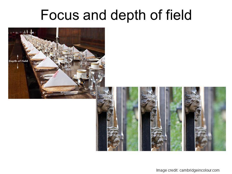 Focus and depth of field Image credit: cambridgeincolour.com