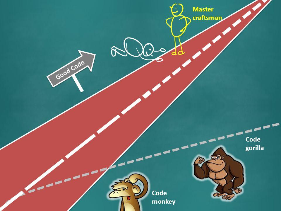 Good Code Code monkey Code gorilla Master craftsman