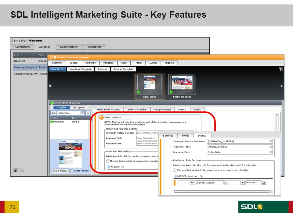 SDL Intelligent Marketing Suite - Key Features 20