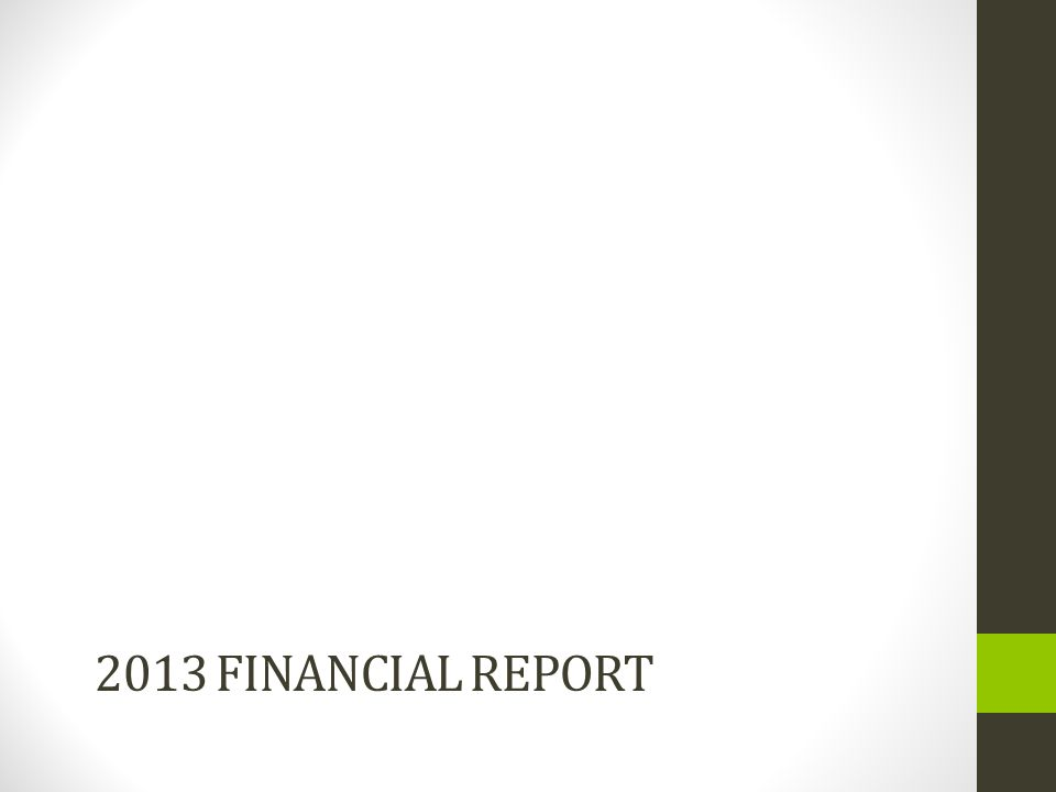 2013 FINANCIAL REPORT
