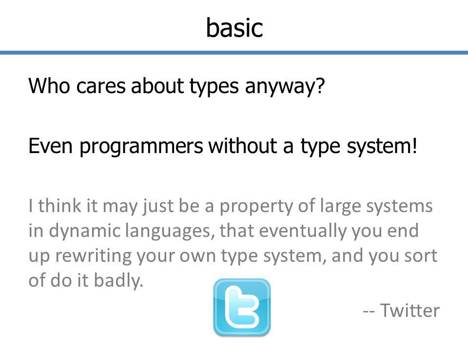 basic ExpressionType Kind of Type 5intbasic hello stringbasic (5, hello )int * stringtuple [1; 2; 3; 4]int listlist [ (1, 1) ; (2, 2) ; (3, 3) ](int * int) listtuple+list