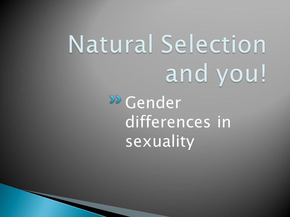 Gender differences in sexuality