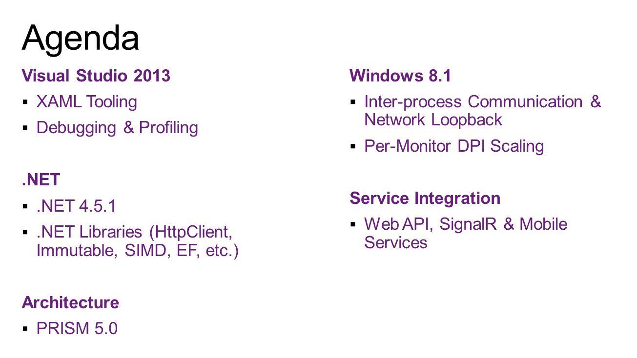 Web API  RESTful Web Services (JSON, XML, etc)  OData end-points SignalR  Real-time communication
