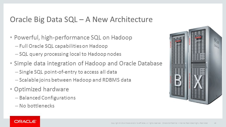 Copyright © 2014 Oracle and/or its affiliates. All rights reserved. | Oracle Big Data SQL – A New Architecture Powerful, high-performance SQL on Hadoo