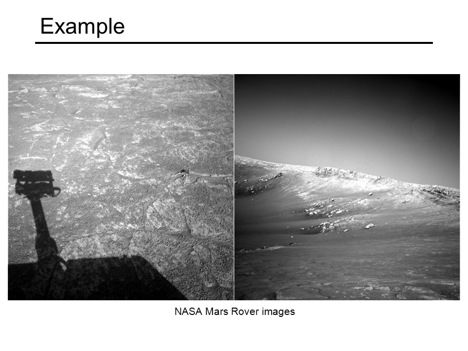 Example NASA Mars Rover images