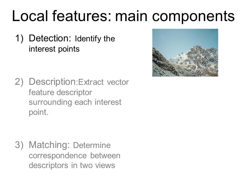 Properties of the Harris corner detector Rotation invariant.