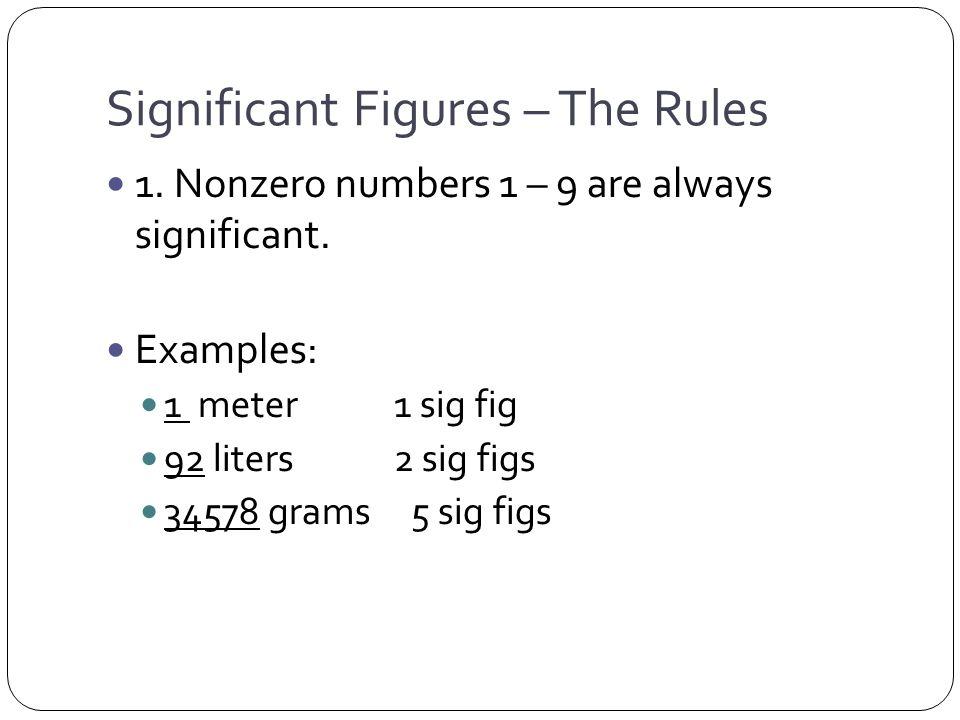 20 grams 1 sig fig Rule 1, 5