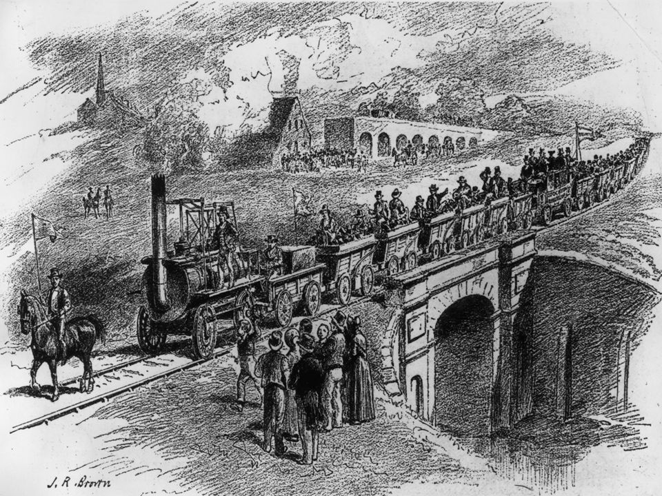 How did the Railway develop.The canals became very busy.