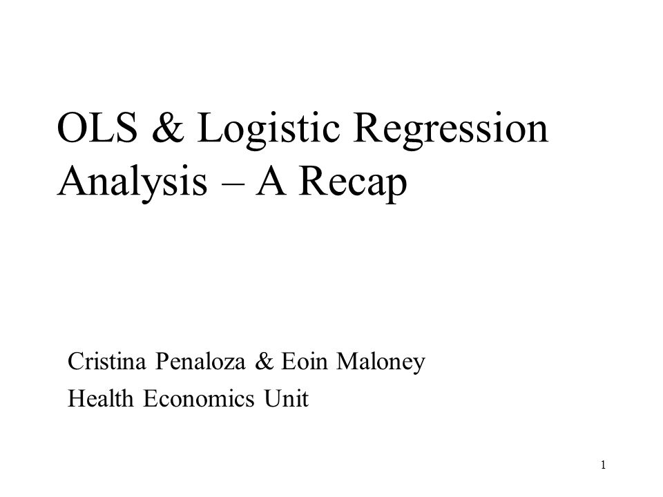 2 Outline What is regression analysis.