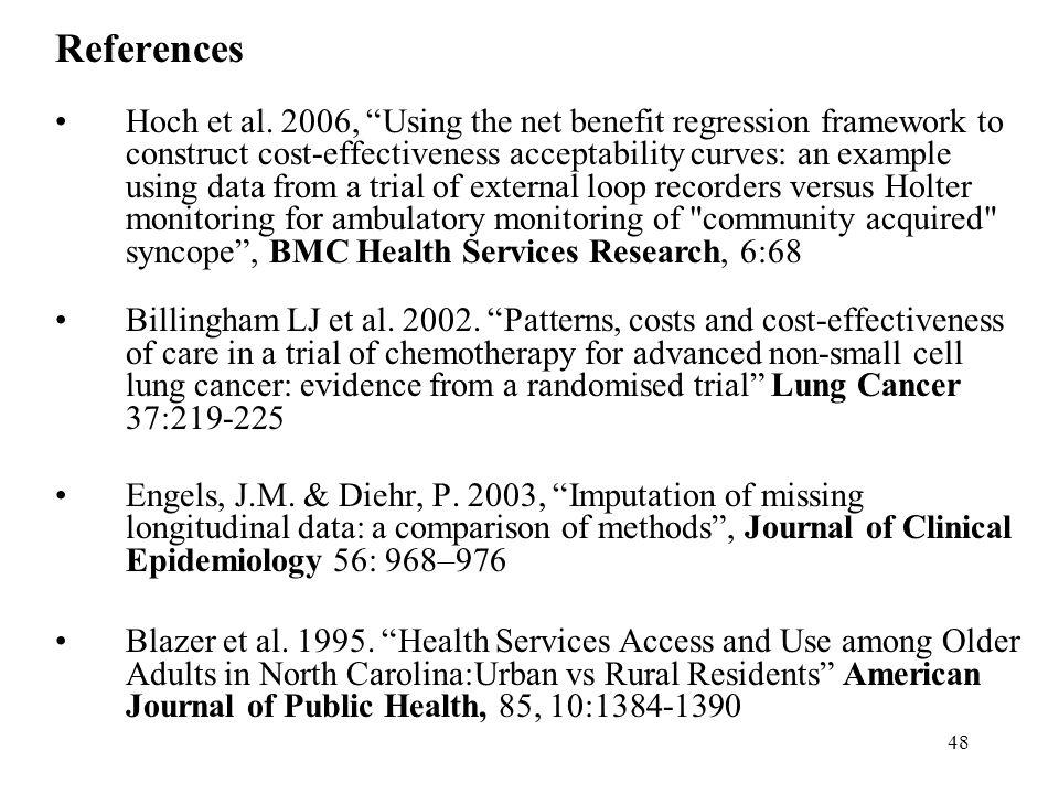 48 References Hoch et al.