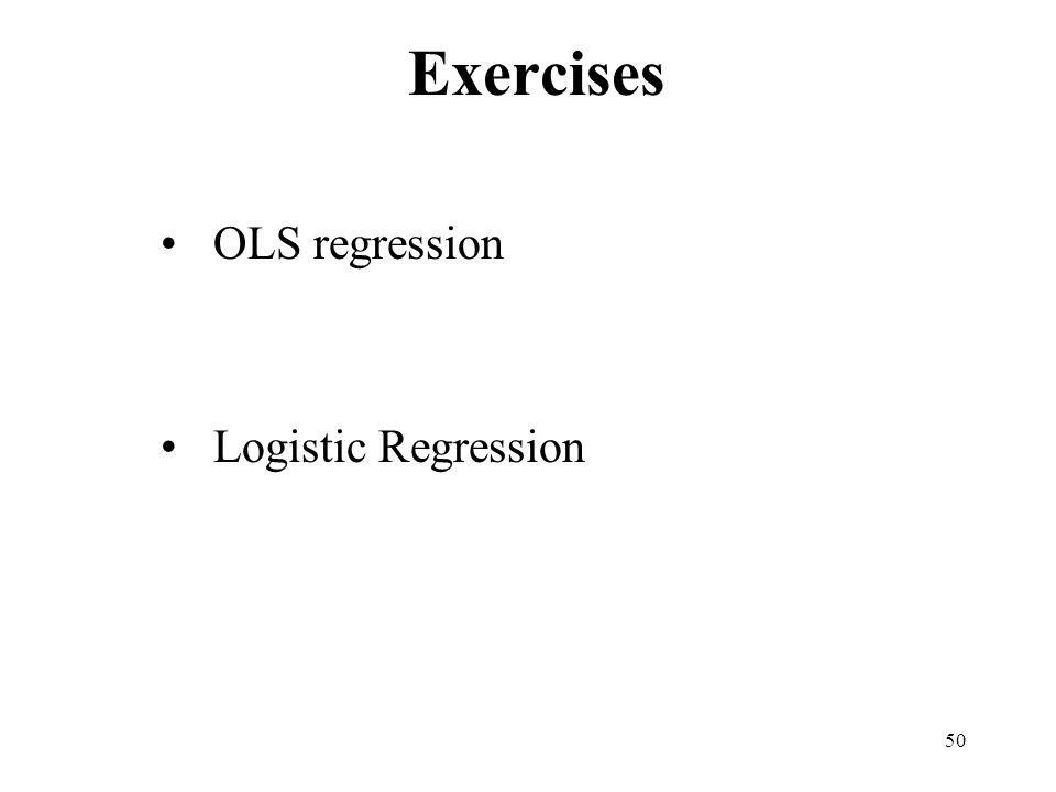 50 Exercises OLS regression Logistic Regression