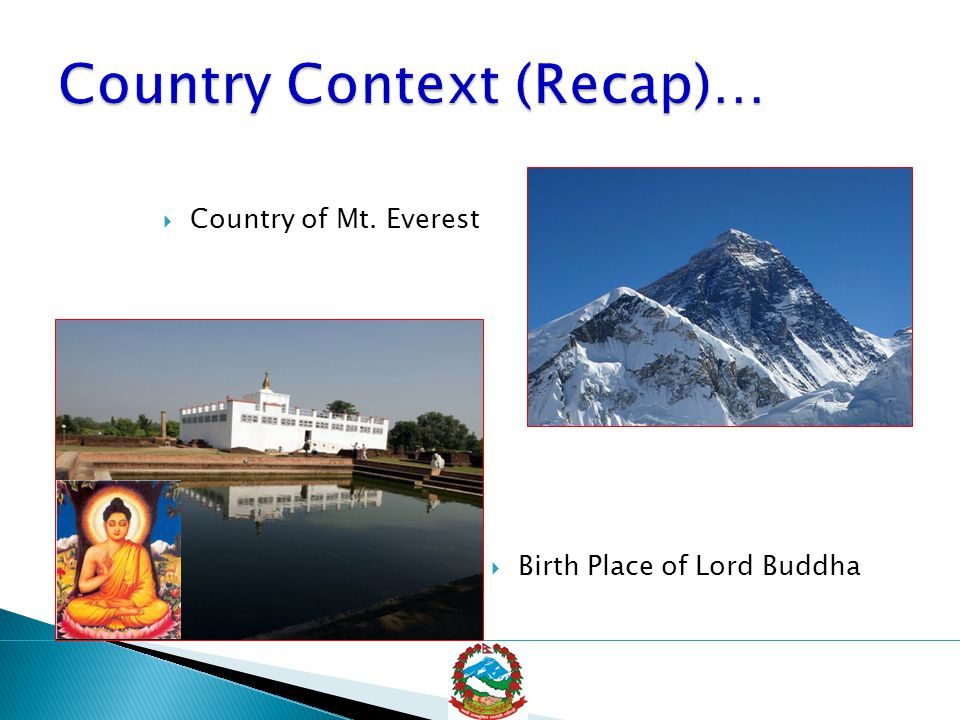  Country of Mt. Everest  Birth Place of Lord Buddha