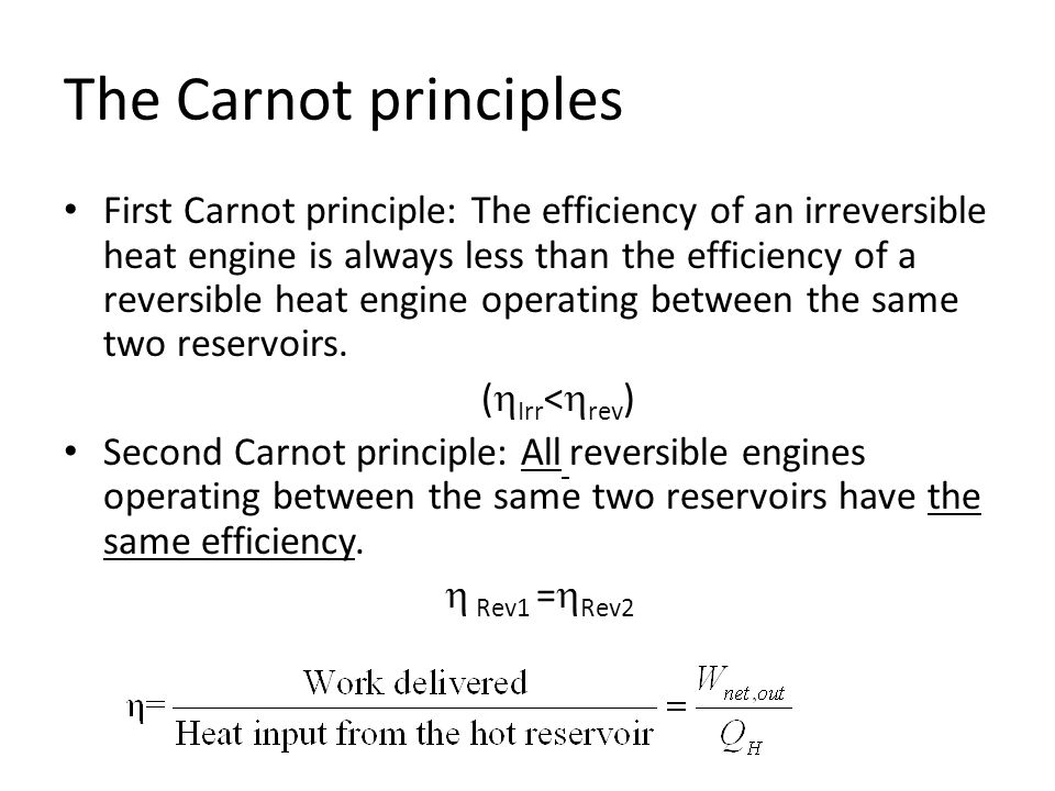 Constructing a single-fixed-point thermodynamic temperature scale Procedure for calculating thermodynamic temperature for t<t tp Place one of the reservoirs in thermal equilibrium with water at triple point (tp); prescribe the value 273.16 to the constant for t>t tp The reversible engine is operated with a fixed Q tp ; then Q(t) is measured to obtain T(t) using: (in either case) T is known as the Kelvin/absolute temperature scale
