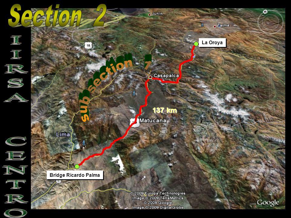 Bridge Ricardo Palma La Oroya 137 km