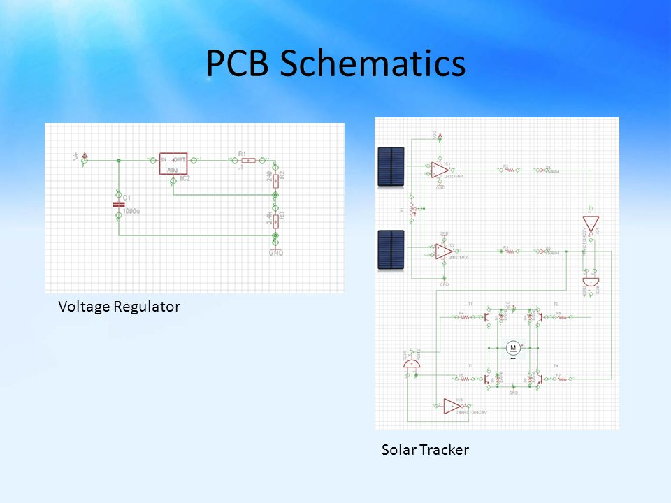 PCB Schematics Voltage Regulator Solar Tracker