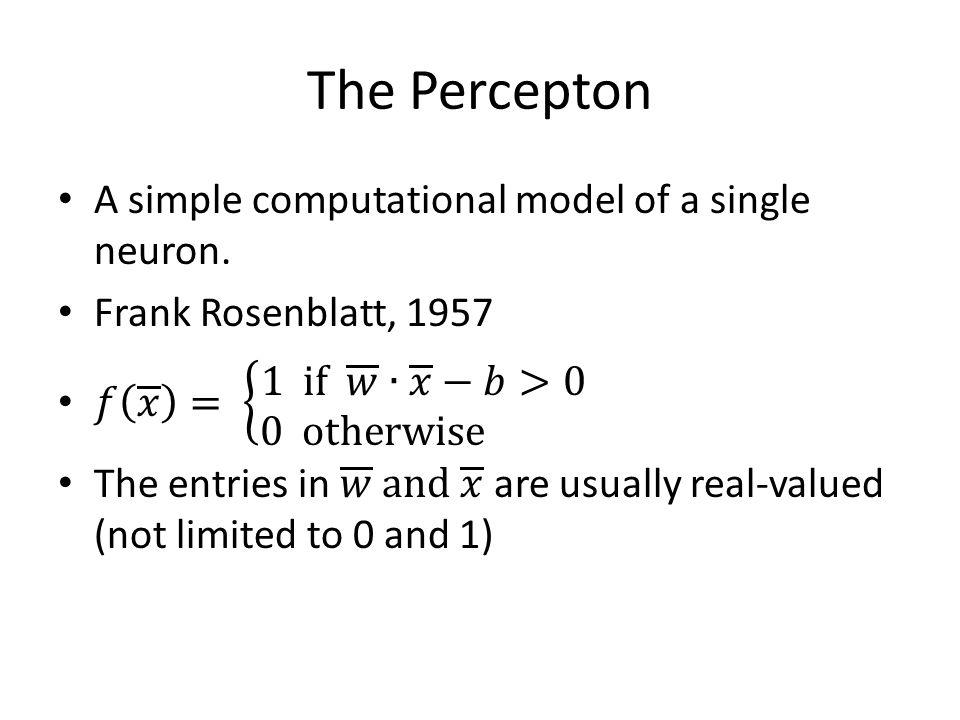 The Percepton