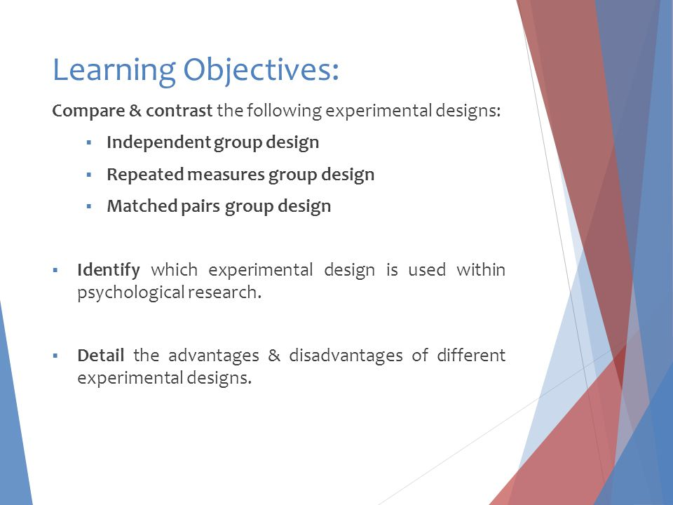 What is meant by experimental design.