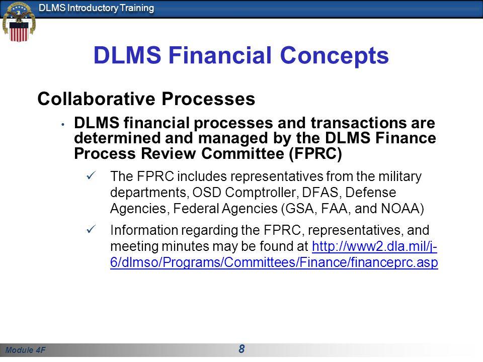Module 4F 19 DLMS Introductory Training APPENDIX AP1.1.