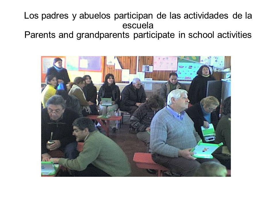 Los padres y abuelos participan de las actividades de la escuela Parents and grandparents participate in school activities