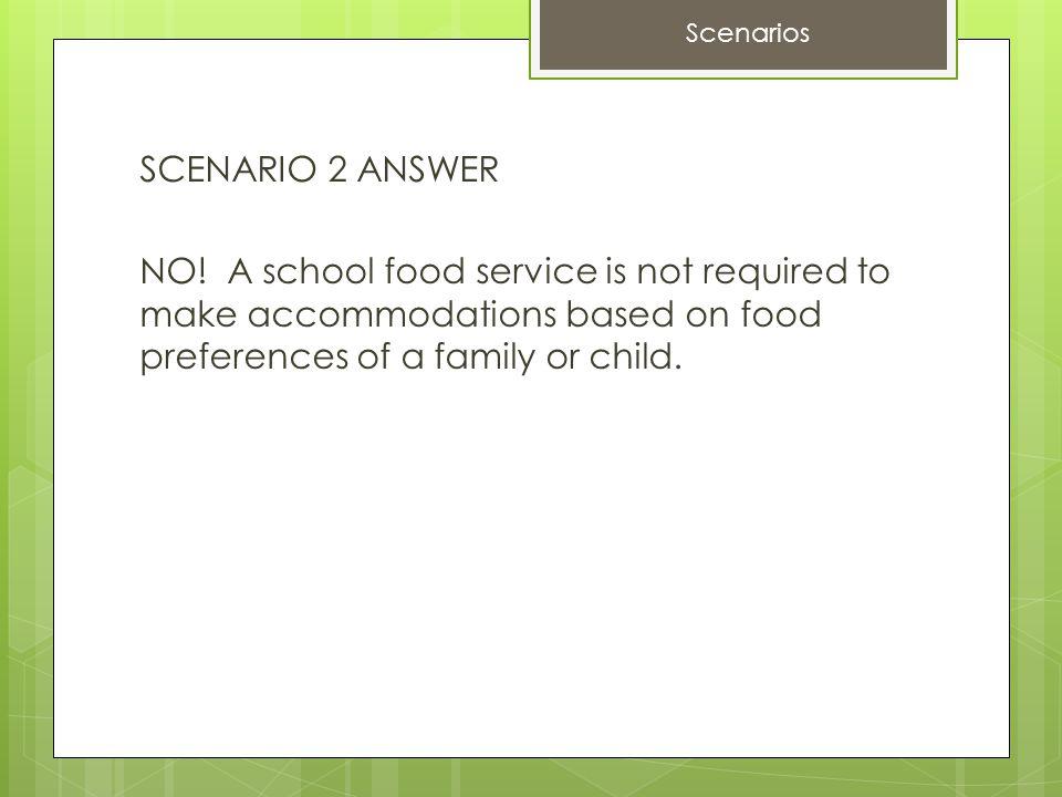 SCENARIO 2 ANSWER NO.