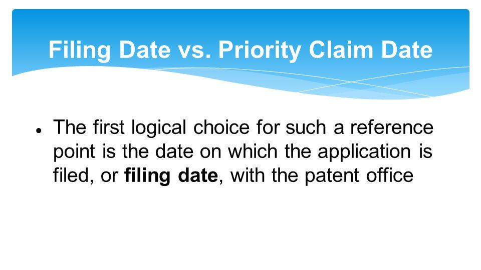 Filing Date vs.