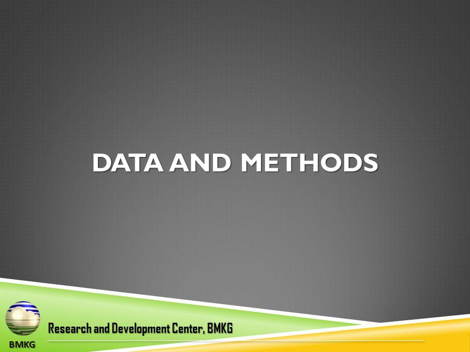 DATA AND METHODS BMKG Research and Development Center, BMKG