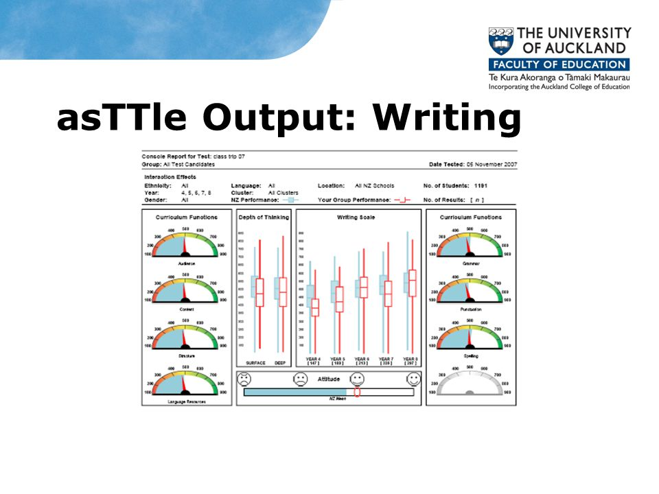 asTTle Output: Writing