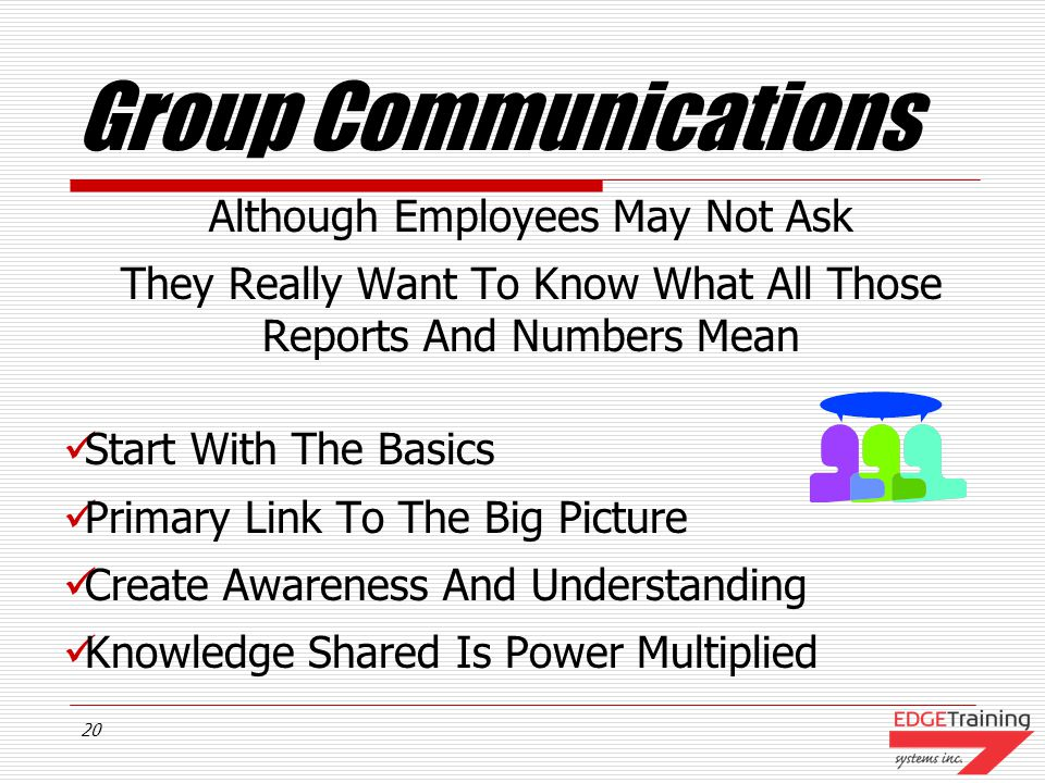 19 Group Communications Stimulate Dialogue Appoint A Lead Manager Choose A Problem To Solve Brainstorm Ideas Using The Group Communication Skills Pages #9, #10 & #11