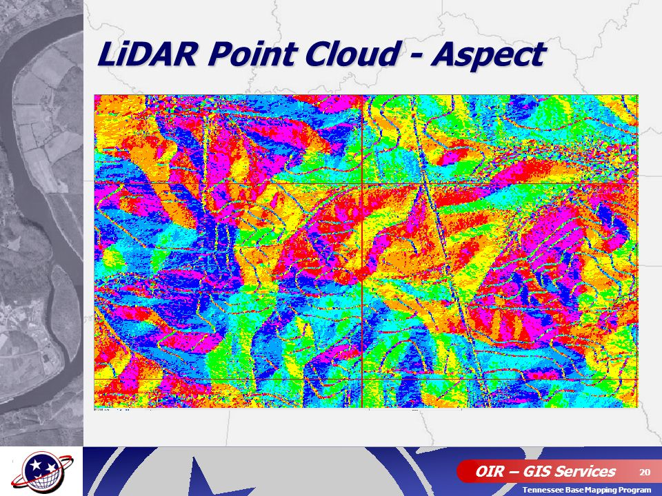 OIR – GIS Services 20 Tennessee Base Mapping Program LiDAR Point Cloud - Aspect