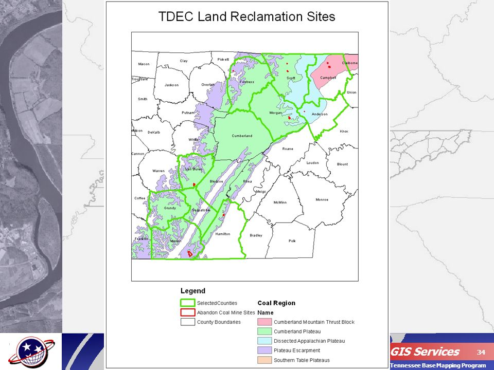 OIR – GIS Services 34 Tennessee Base Mapping Program