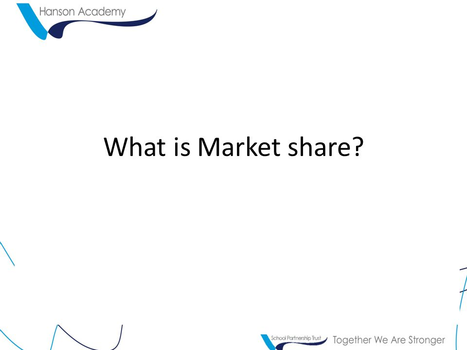 What is Market share?