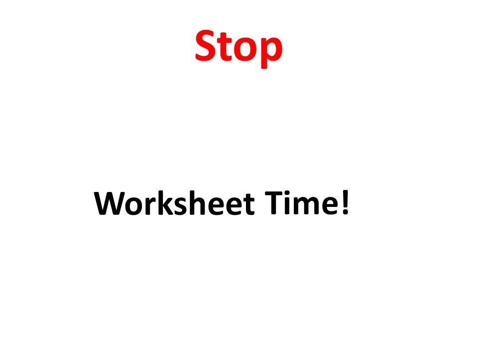 Stop Hammer Time! Worksheet