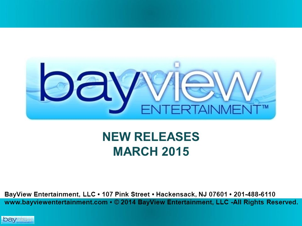 NEW RELEASES MARCH 2015.