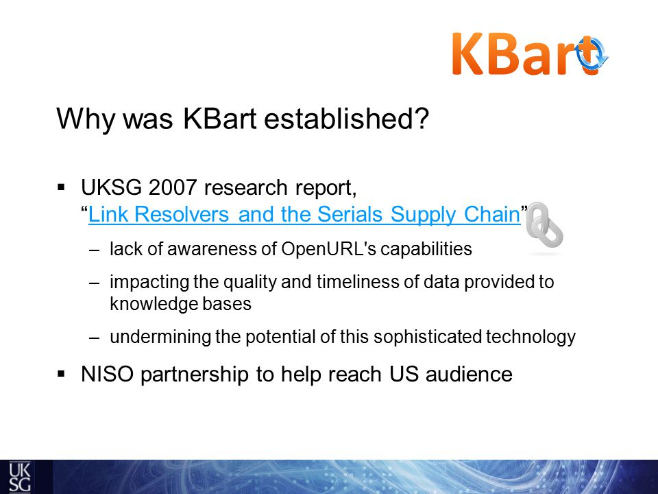 Why was KBart established.