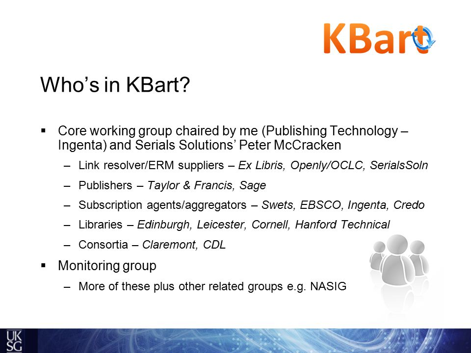 Who's in KBart.