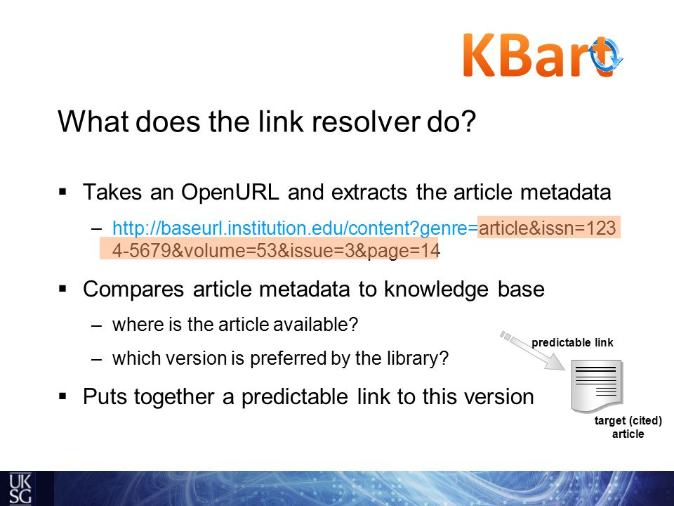 What does the link resolver do.