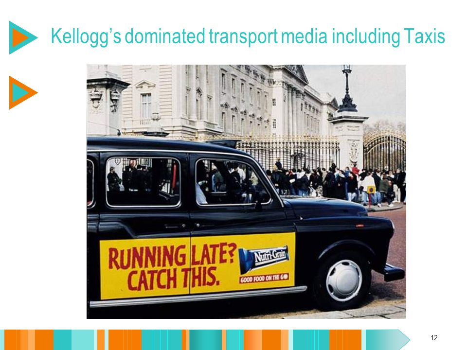 12 Kellogg's dominated transport media including Taxis