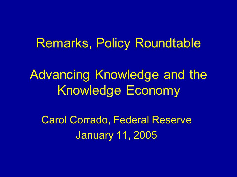 2 A Broader Perspective on Capacity: Knowledge Capital (Intangibles) Do conventional measures fully capture capital investments and capacity.