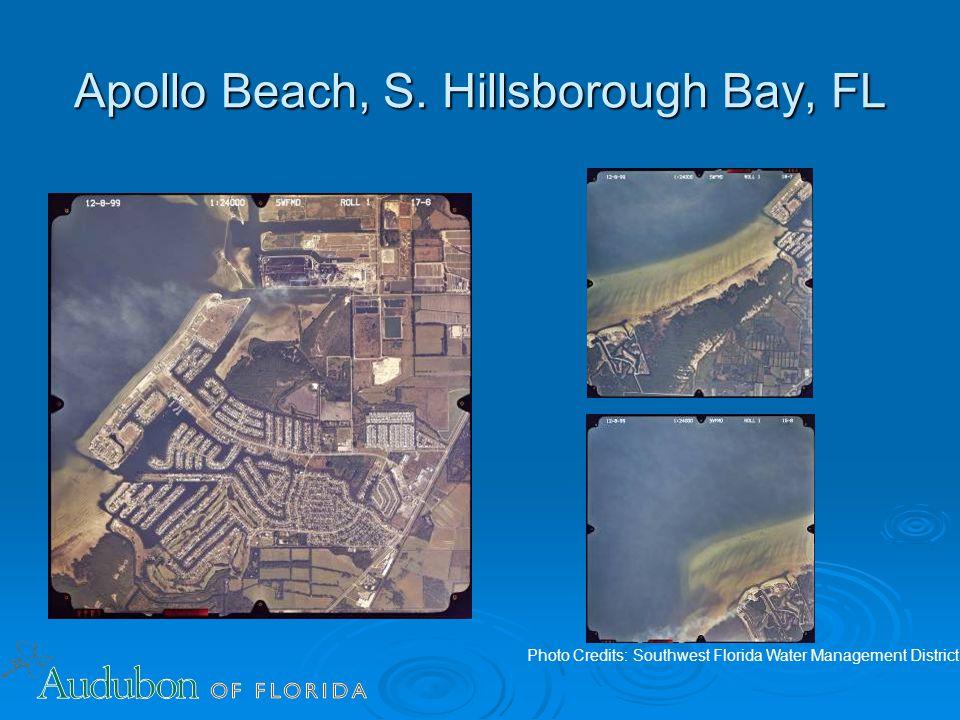 Apollo Beach, S. Hillsborough Bay, FL Photo Credits: Southwest Florida Water Management District