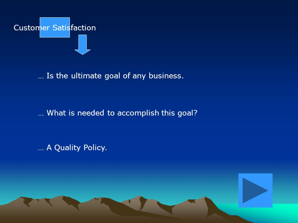BackGround Each KPM is directly related to one of the two corporate quality objectives.