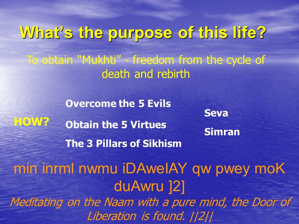 The 4 main stages… 1.Naam Karan 2.Amrit Sanchar 3.Anand Karaj 4.Antam Sanskar