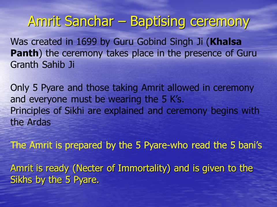 The process of taking Amrit-is the giving of your head to Guru Ji-what the 5 Pyare did in 1699.