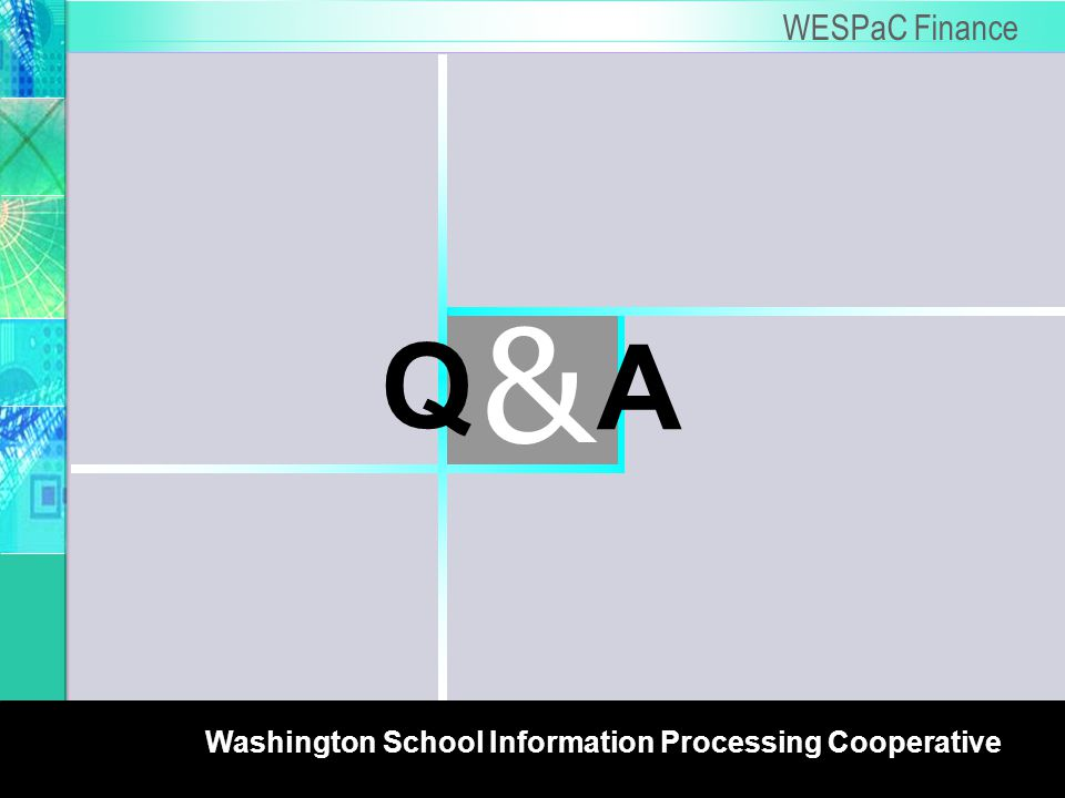 6 WSIPC WESPaC Finance A & Q Washington School Information Processing Cooperative