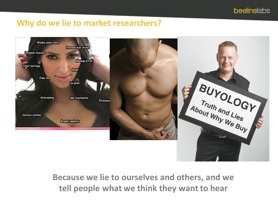 Why do we lie to market researchers.