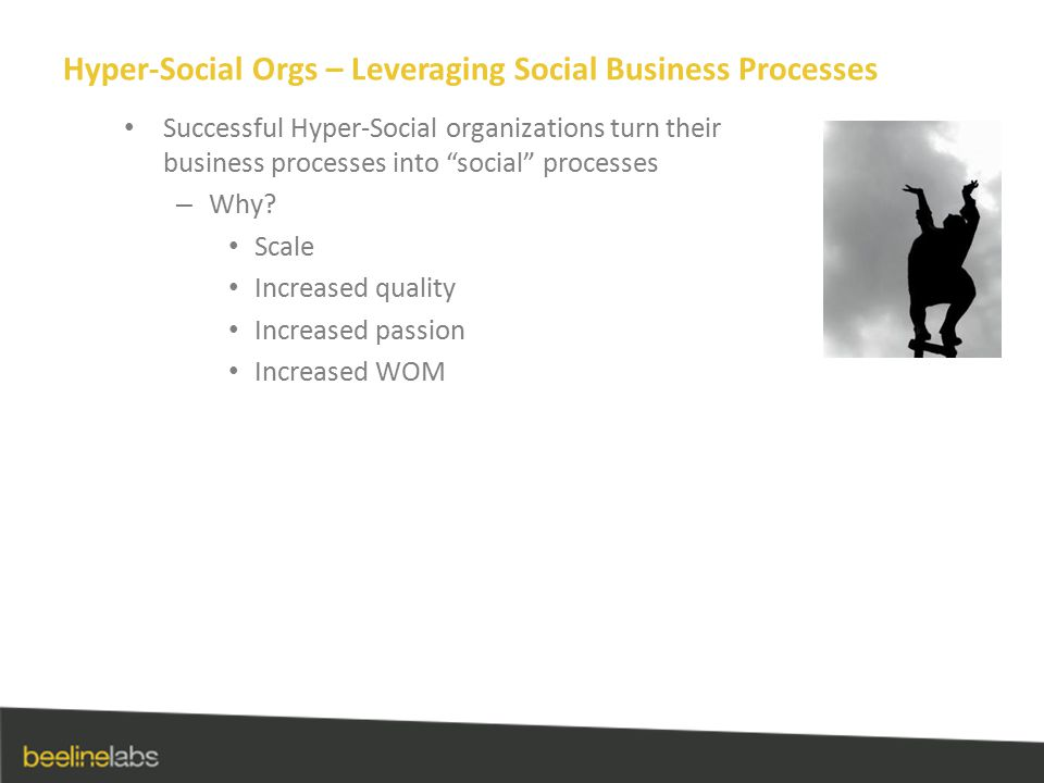 Hyper-Social Orgs – Leveraging Social Business Processes Successful Hyper-Social organizations turn their business processes into social processes – Why.